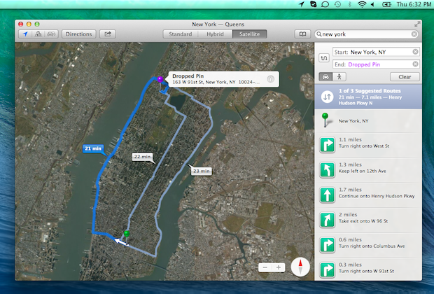 Apple Maps: Directions