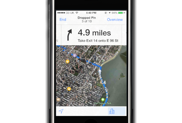 Apple Maps: On the go directions