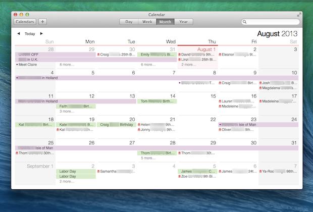Calendar: Multiple week, month, year views