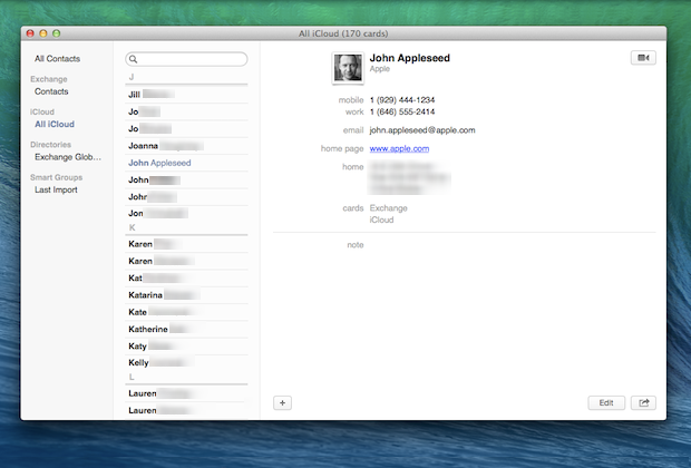 Contacts: Simpler, cleaner interface