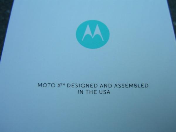 Back of Moto X box