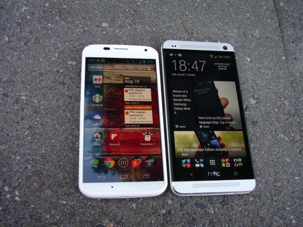 Moto X and HTC One