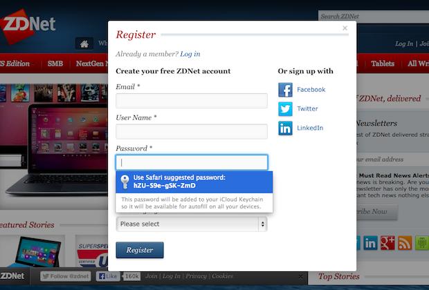 iCloud Keychain: Password support