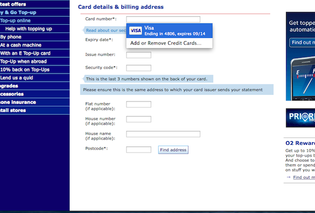 iCloud Keychain: Synchronizing card payment details in the cloud