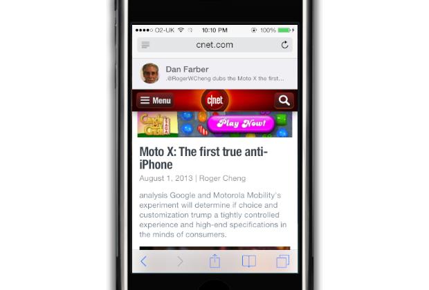 Safari: Shared links