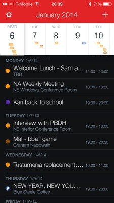 Fantastical lets me access my calendar and reminders