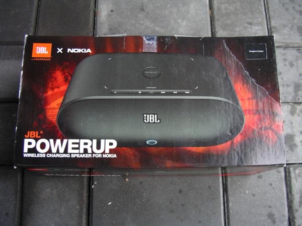JBL PowerUp Wireless Charging Speaker retail package