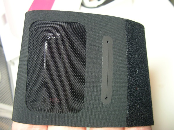 Fitbit One in the wrist strap holder