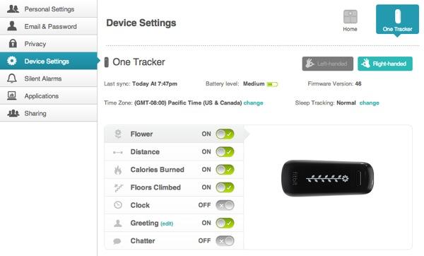 Managing device settings via the web