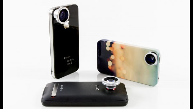 A selection of phone lenses