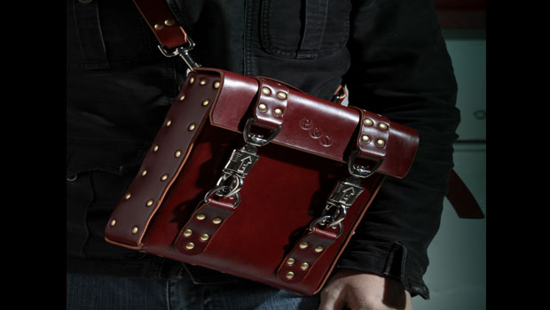 For your iPad: A leather hip bag