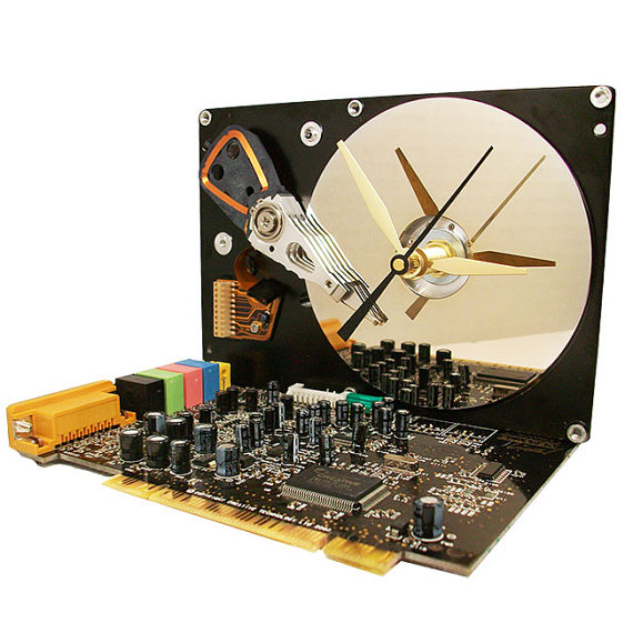 Recycled Tech Clock