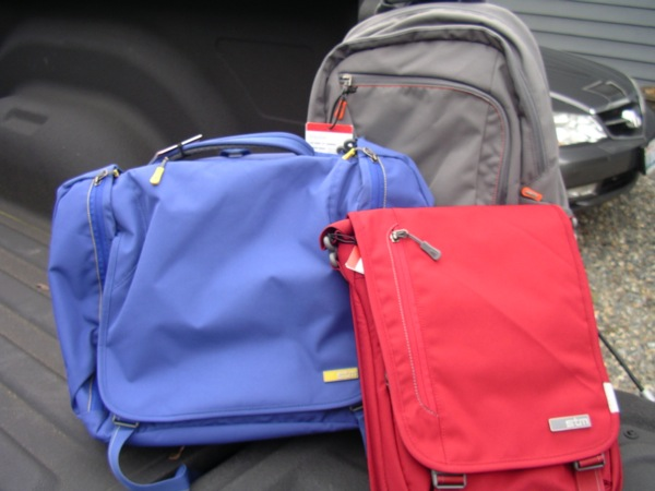 Three of STM Bags new Velocity collection