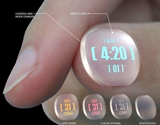 Timex fingernail watch