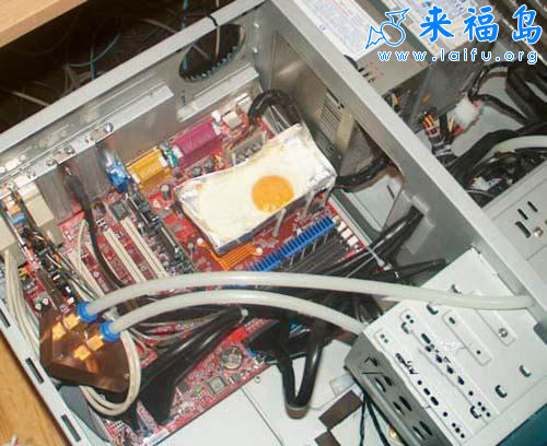 Frying eggs on PC motherboard