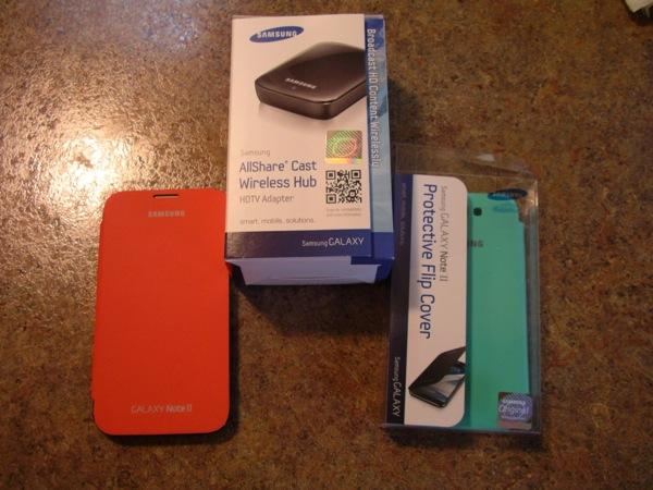 Samsung Flip Covers and AllShare Cast Wireless Hub