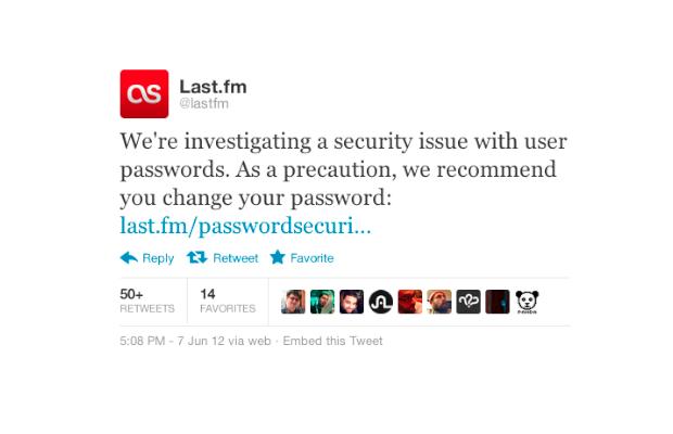 Last.fm next in line to suffer massive password breach