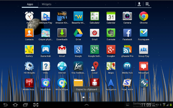 My Apps, first screen
