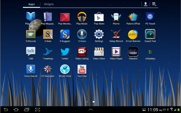 My Apps, second screen