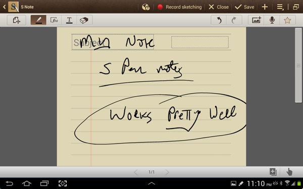 S Note (with S Pen)