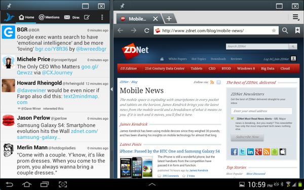 Galaxy Note 10.1 Multiview