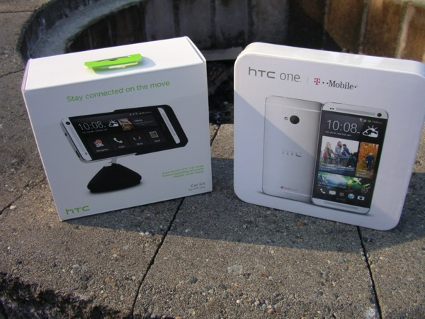 HTC One Car Kit and HTC One from T-Mobile