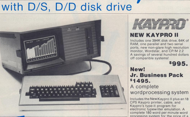 """KayPro: One of the first """"portable"""" computers."""
