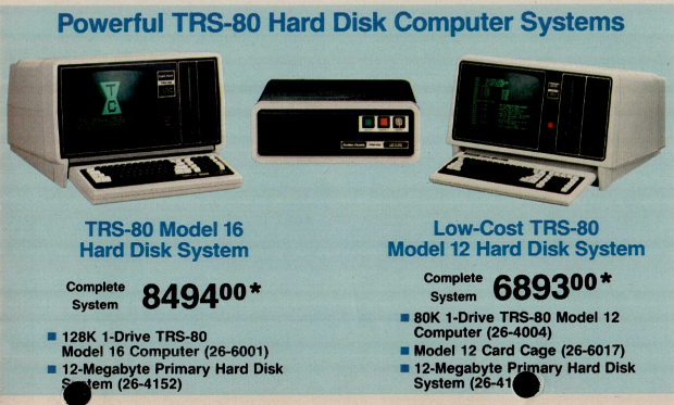 Big-time TRS-80 PCs with even bigger prices.