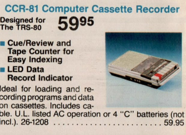 If you couldn't afford a hard drive, there was always cassette tape