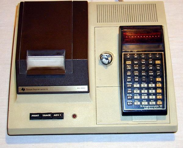1977 — Texas Instruments TI-59 programmable calculator