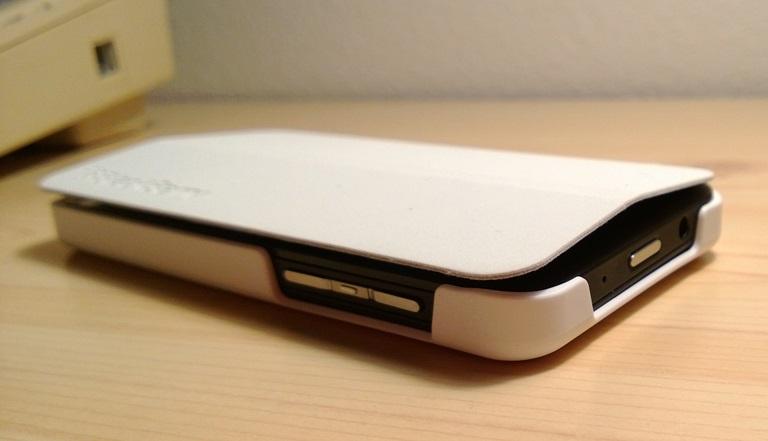 Side view of Flip case