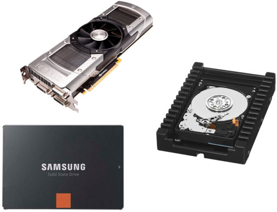 Best graphics cards, hard drives, and solid state drives list of 2012