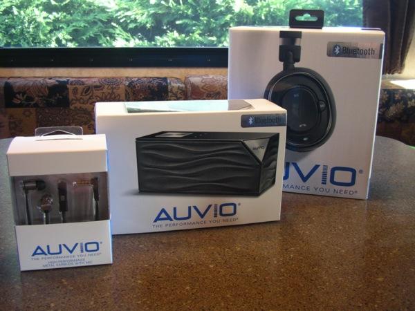 Three Auvio audio products from RadioShack