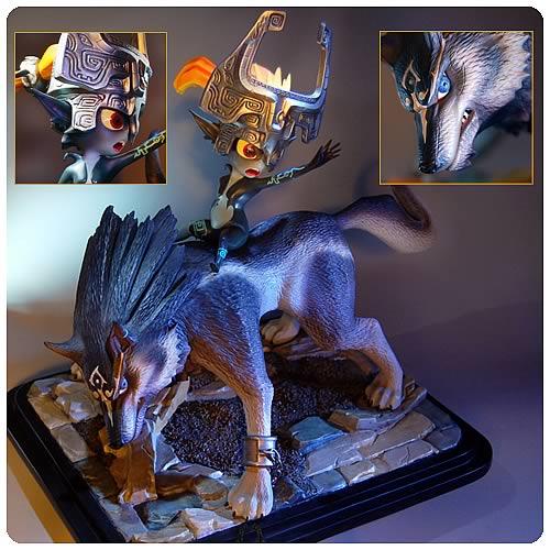 Legend of Zelda: Twilight Princess Wolf Link Midna Statue