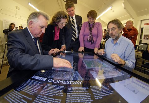 Domesday touchtable