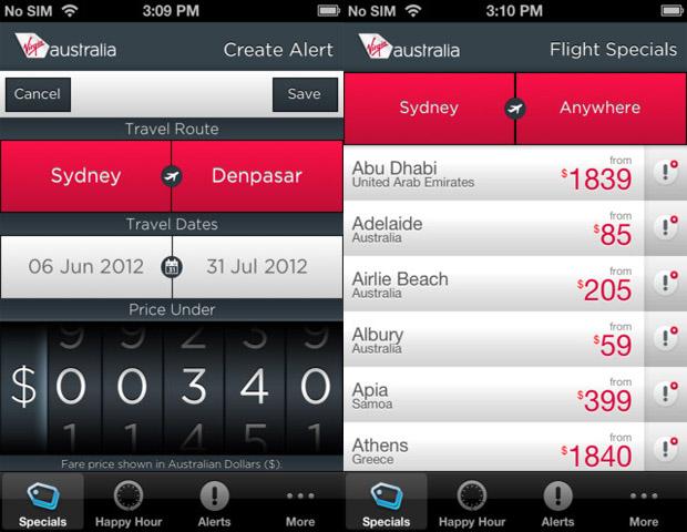 Virgin Australia Flight Specials