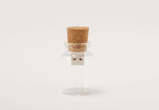 USB flash drive in a bottle