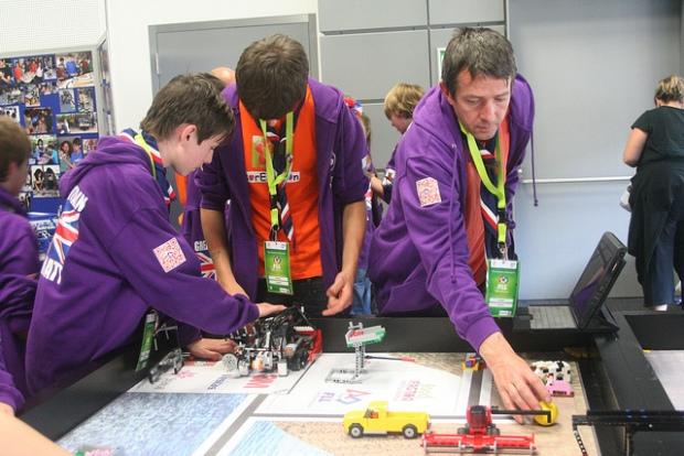 Boreatton scouts at Lego contest