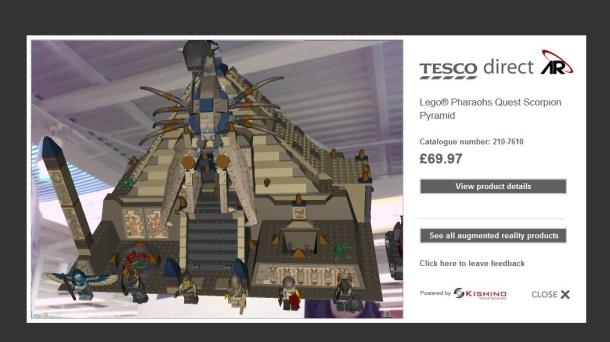 Tesco augmented reality Lego display