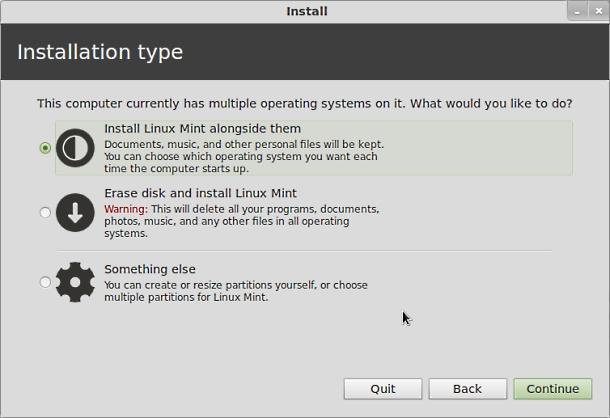 Installation type