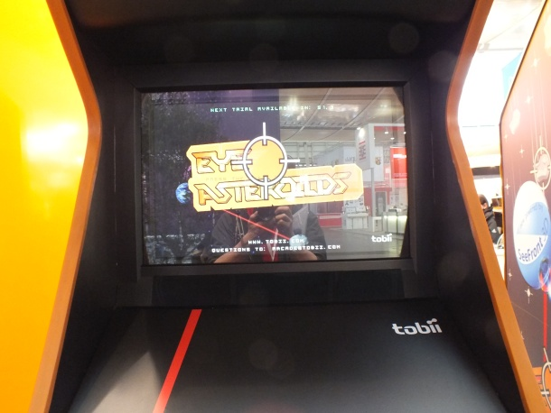 Eye-tracking technology on an arcade game