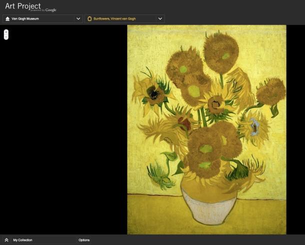 Google Art Projects Van Gogh's Sunflowers