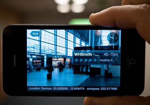 Copenhagen Airport augmented reality iPhone app