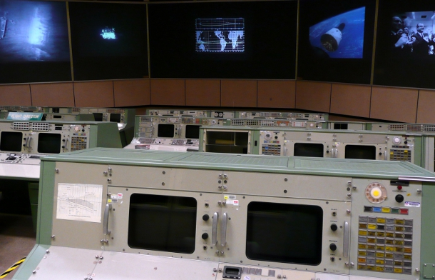 Vintage Nasa control room image