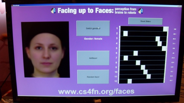 A mathematically-generated female face