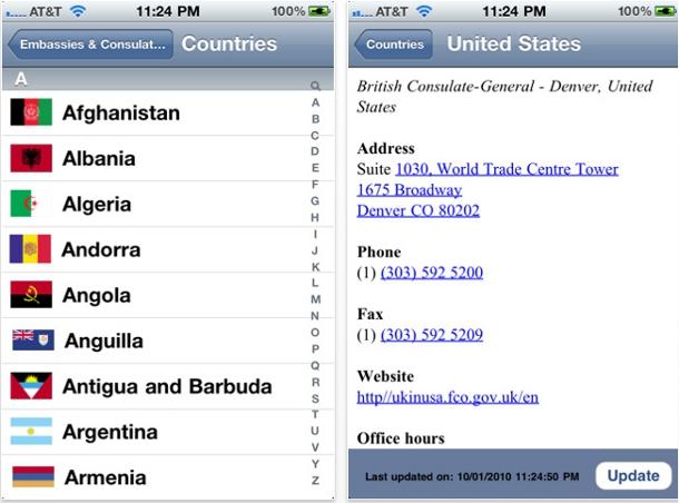Embassy UK iPhone app