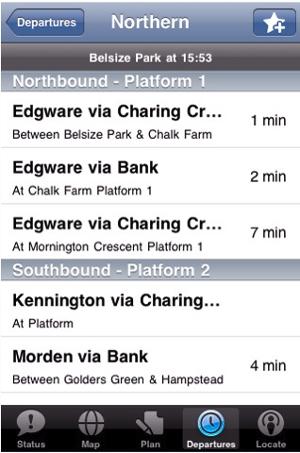 London Tube Deluxe iPhone app