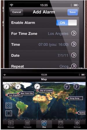 World Clock Pro iPhone app
