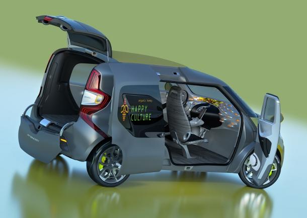 Renault Frendzy rear interior seats down