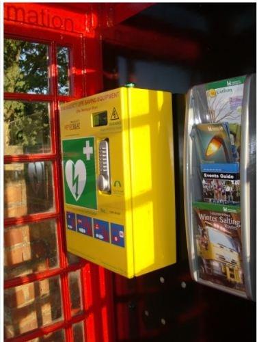 BT Red Phone Box Defibrillator